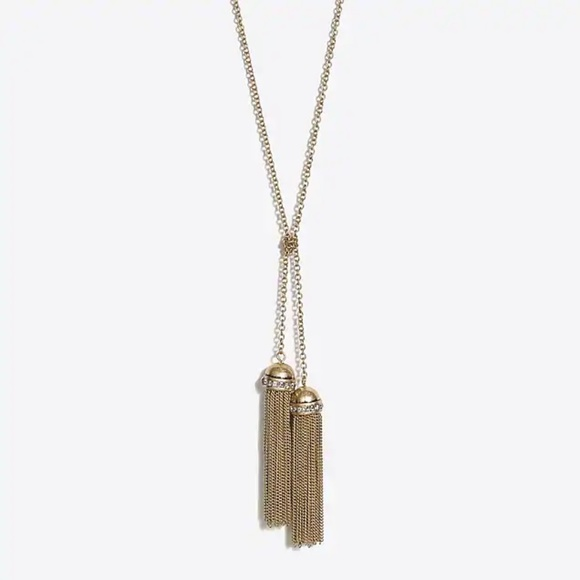 J. Crew Factory Jewelry - J CREW Tied the Knot Double Tassel Lariat Necklace